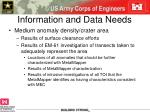 information and data needs1