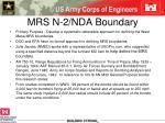 mrs n 2 nda boundary