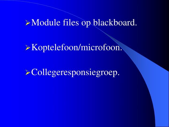 Module files op blackboard.