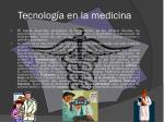tecnolog a en la medicina