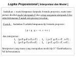 logika proposisional interpretasi dan model1