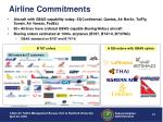 airline commitments