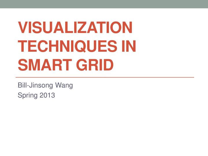 visualization techniques in smart grid n.