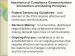 importance of compliance communications introduction and guiding principles