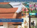 why families feel out of control
