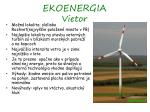 ekoenergia vietor
