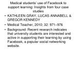 medical students use of facebook to support learning insights from four case studies