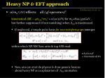 heavy np eft approach2