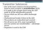 transmitter substances