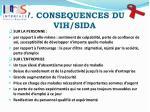 v consequences du vih sida