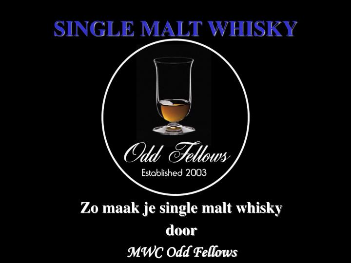 single malt whisky n.
