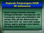 sejarah perjuangan ham di indonesia