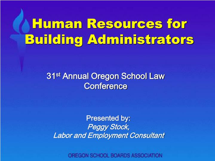 human resources for building administrators n.