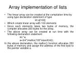 array implementation of lists