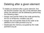 deleting after a given element