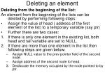 deleting an element2