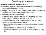deleting an element4