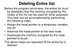 deleting entire list