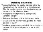 deleting entire list2