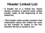 header linked list