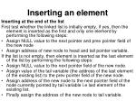 inserting an element10