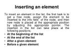 inserting an element7