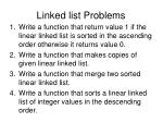 linked list problems