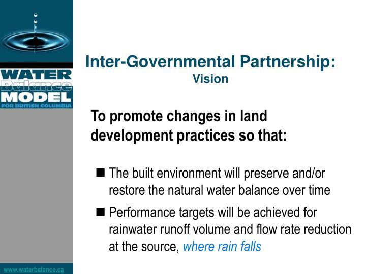 Inter-Governmental Partnership:
