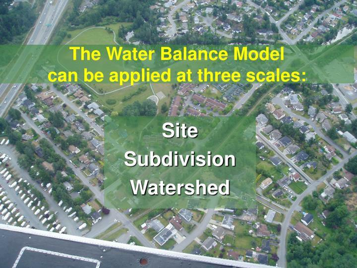 The Water Balance Model