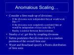 anomalous scaling