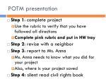 potm presentation