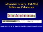 affymetrix arrays pm mm difference calculation