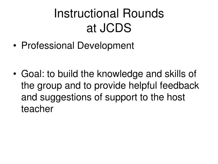 instructional rounds at jcds n.