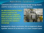 applications cyclotrons 1