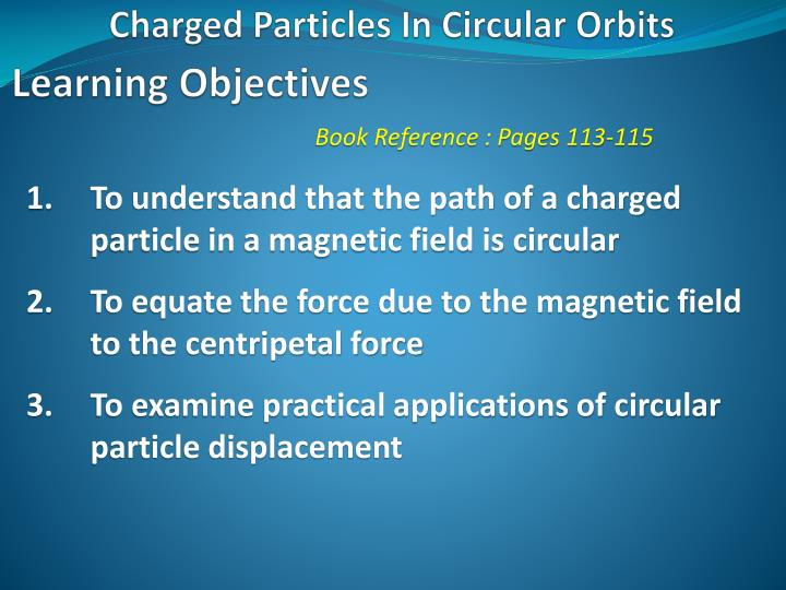 charged particles in circular orbits n.