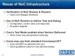 reuse of noc infrastructure