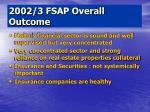 2002 3 fsap overall outcome