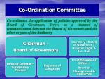 co ordination committee