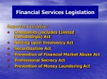 financial services legislation1