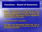 functions board of governors