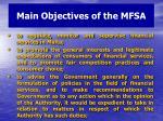main objectives of the mfsa