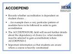 accdepend