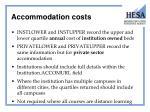 accommodation costs