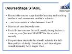 coursestage stage