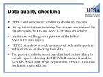 data quality checking