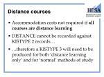 distance courses