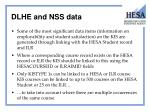 dlhe and nss data