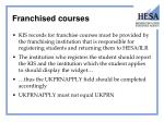 franchised courses