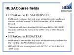 hesacourse fields