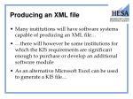 producing an xml file